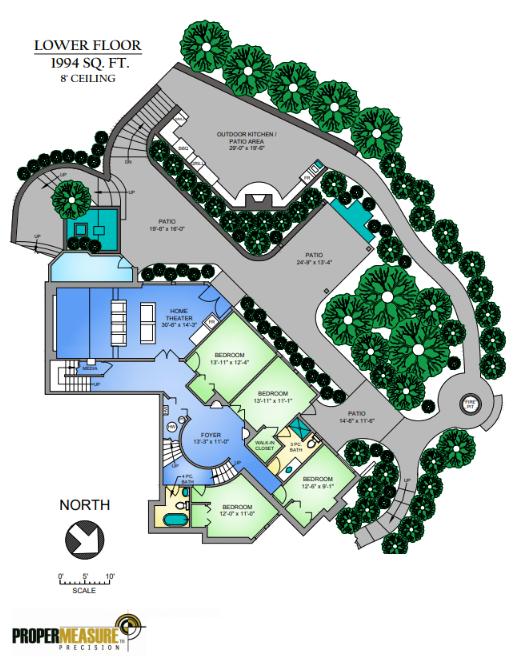 Residential Measurement Standard compliant floor plans in Calgary