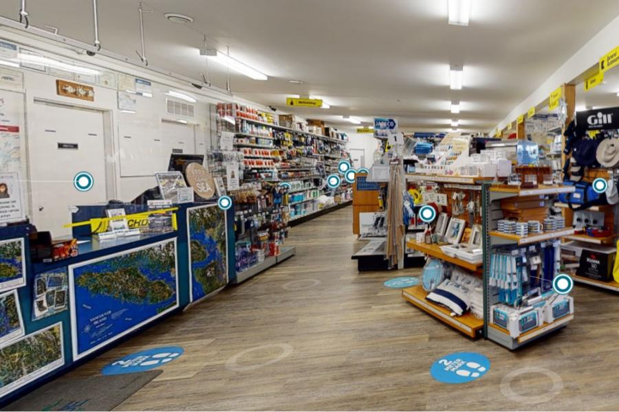 Matterport for retail business Mattertags example