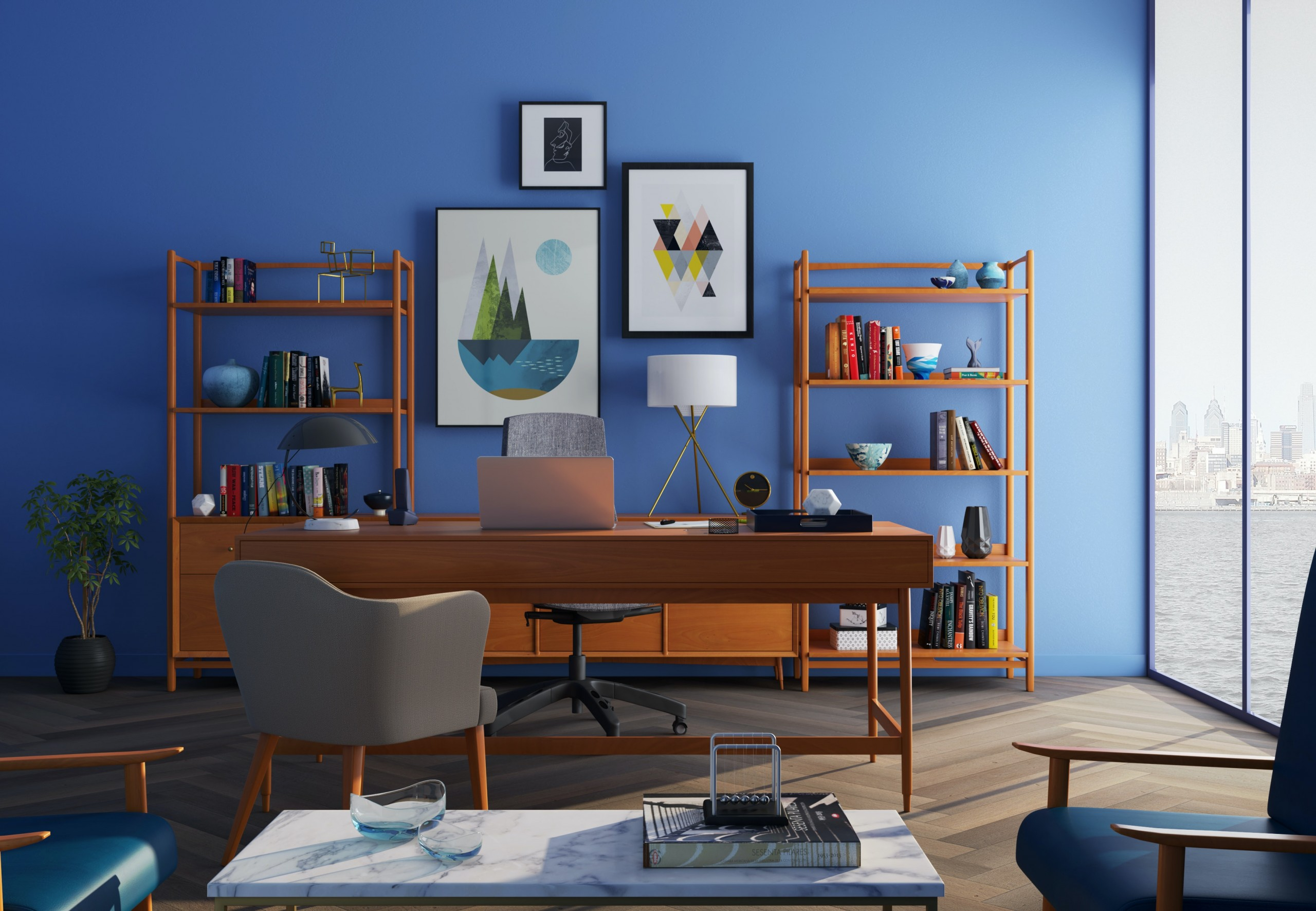 common mistakes in home office staging
